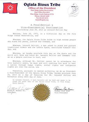 OST Proclamation June 2013