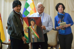 Evo Morales with Lenny Foster 20151012