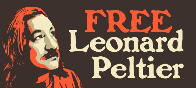 Honoring Leonard Peltier andRasmea Odeh on InternationalHuman Rights Day. 10 Dec. 2015