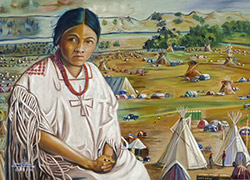 Woman on Sacred Land