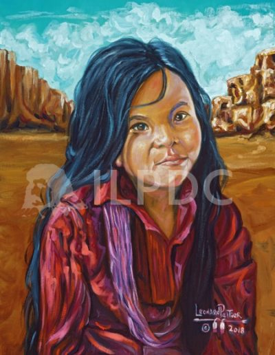 Navajo girl Canyon DeChelly